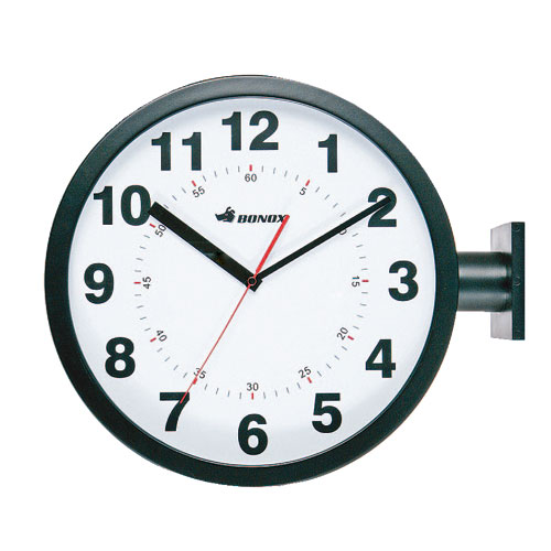 DOUBLE FACES WALL CLOCK BK