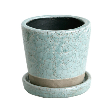 COLOR GLAZED POT CLASSIC GREEN