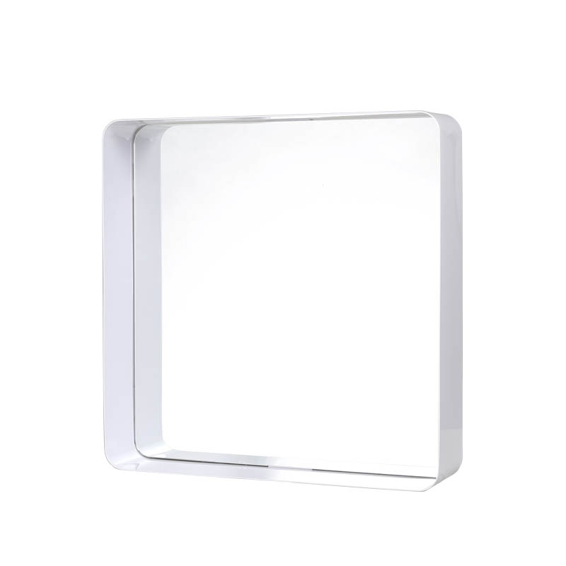 MIRROR WITH STEEL FRAME WHITE