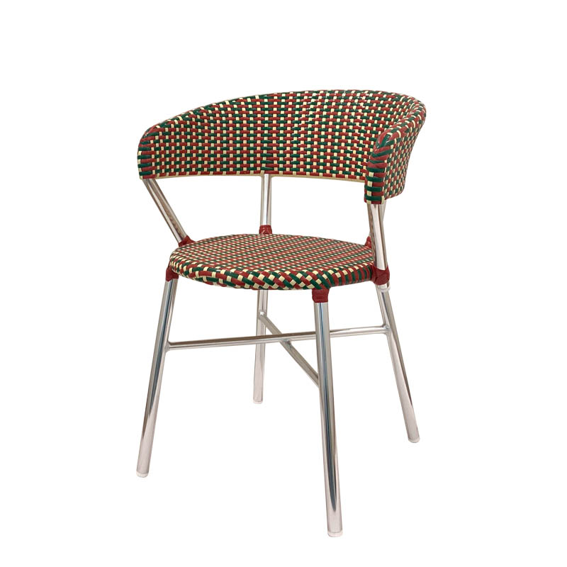 ALUMINUM ROUNDISH CHAIR RD/GN [PX]