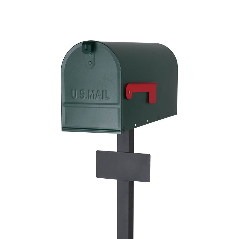 LETTER BOX WITH STAND GREEN