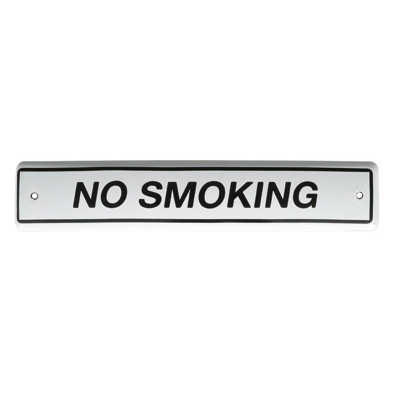 ENAMELED SIGN NO SMOKING
