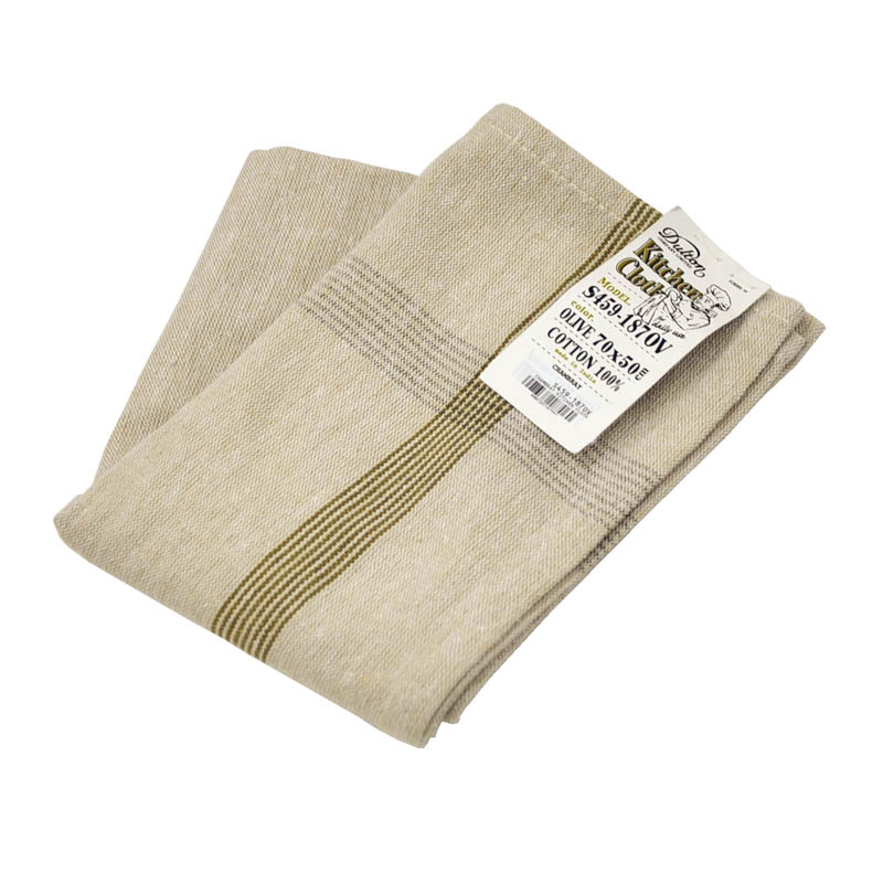 CHAMBRAY KITCHEN CLOTH OLIVE